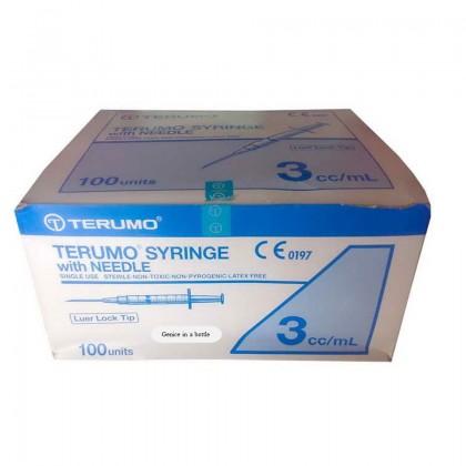 TERUMO Syringe with Needles, Luer Lock (3ML)